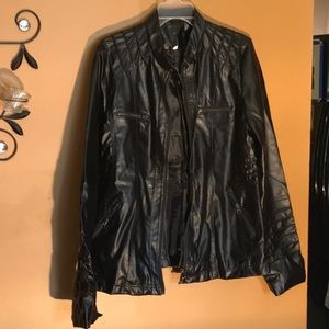 Brand new ladies black jacket with hoodie size XL